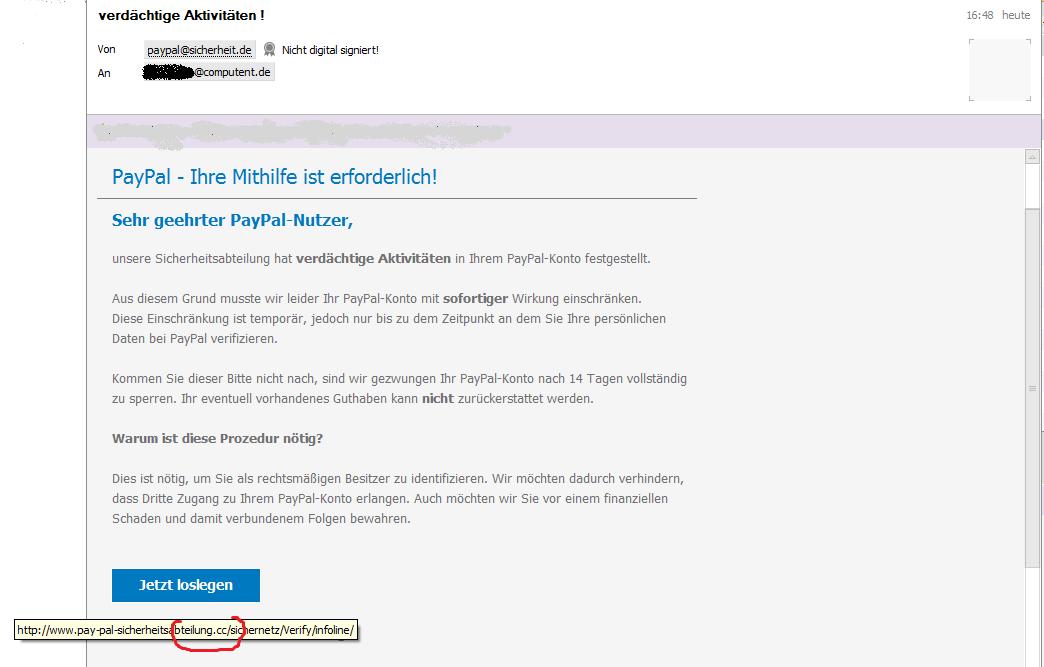 Paypal Verdächtige Aktivitäten