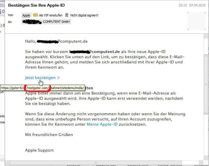 apple id bestätigen