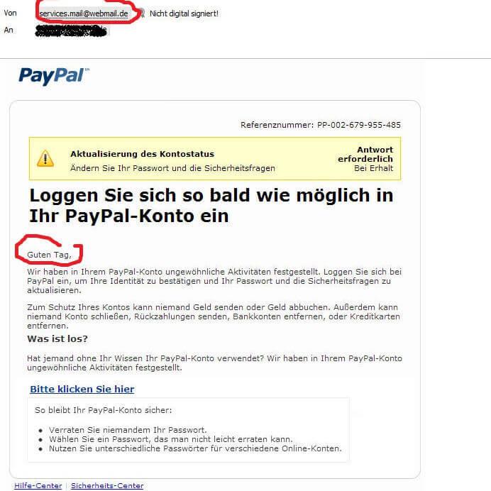 Paypal Konto Name
