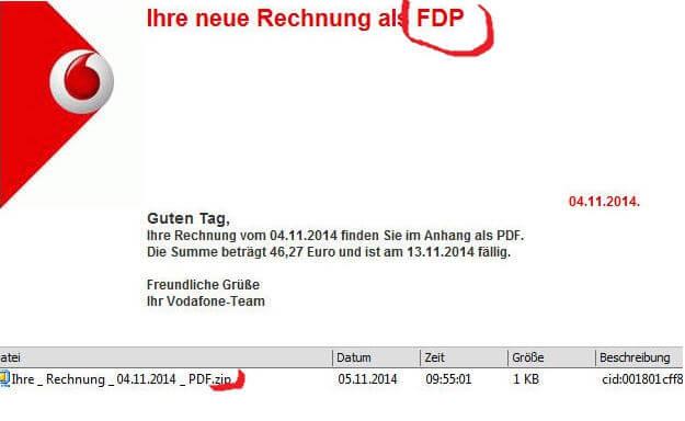 Vodafone Rechnung Als Fdp Ist Virusmail Corinna Goering